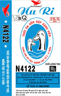 Compound pellet feed for ducks, goose from 3 – 6 weeks  NURI brand – N4122 (25kg)